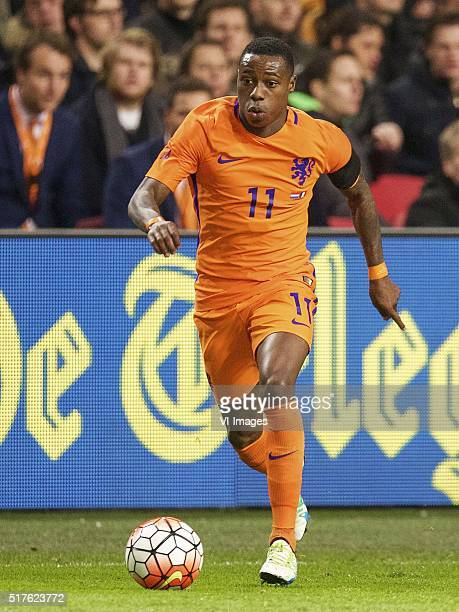Quincy Promes of Holland during the friendly match between Netherlands and France on March 25 2016 at the Amsterdam Arena in Amsterdam The Netherlands