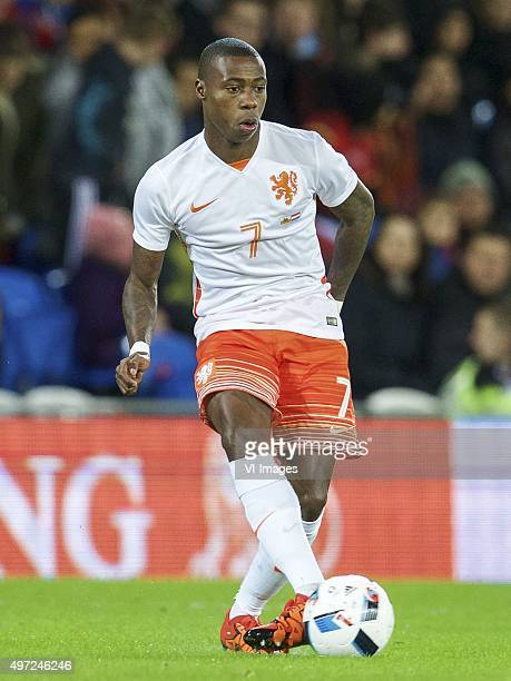 Quincy Promes of Holland during the International friendly match between Wales and Netherlands on November 13 2015 at the Cardiff City stadium in...