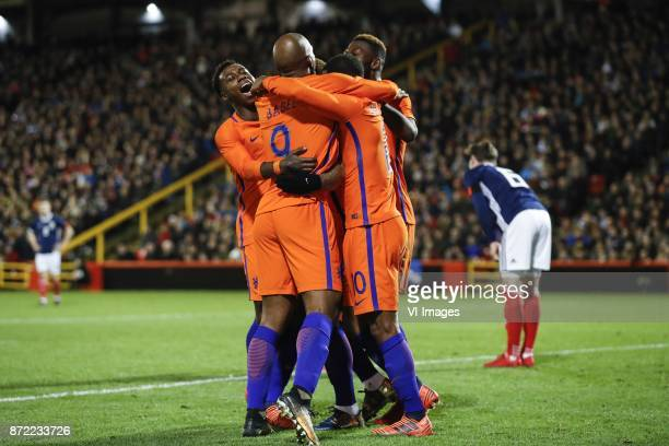 Quincy Promes of Holland Ryan Babel of HollandGeorginio Wijnaldum of Holland Timothy FosuMensah of Holland Kenny McLean of Scotland during the...