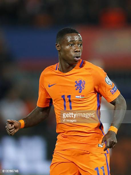 Quincy Promes of Hollandduring the FIFA World Cup 2018 qualifying match between Netherlands and Belarus at the Kuip on October 07 2016 in Rotterdam...