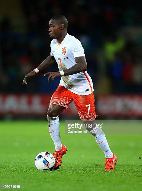 Quincy Promes of Netherlands during the International Friendly match between Wales and Netherlands at Cardiff City Stadium on November 13 2015 in...