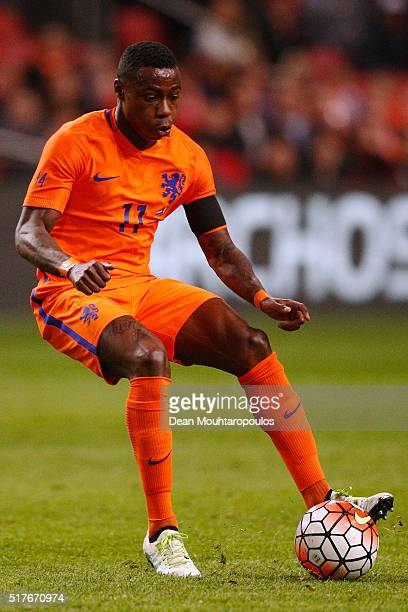Quincy Promes of the Netherlands in action during the International Friendly match between Netherlands and France at Amsterdam Arena on March 25 2016...