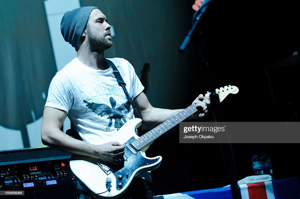 Quinn Allman of The Used performs on stage at Wembley Arena on November 9, 2012 in London, United Kingdom.