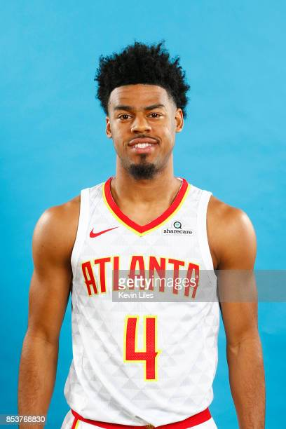 Quinn Cook of the Atlanta Hawks poses for a head shot during Media Day on September 25 2017 at Four Season Hotel in Atlanta Georgia NOTE TO USER User...