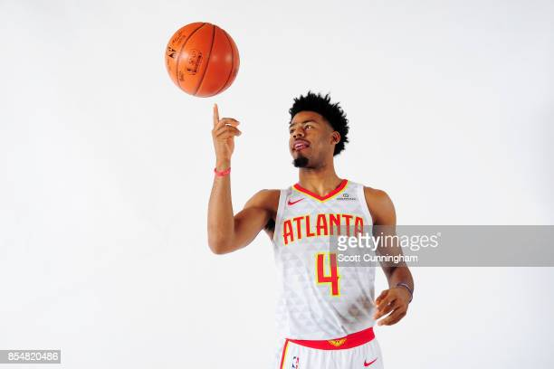 Quinn Cook of the Atlanta Hawks poses for a portrait during the 201718 NBA Media Day on September 25 2017 at Philips Arena in Atlanta Georgia NOTE TO...