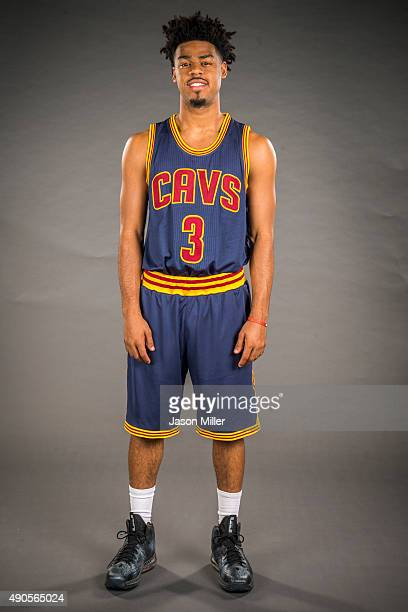Quinn Cook of the Cleveland Cavaliers during the Cleveland Cavaliers media day at Cleveland Clinic Courts on September 28 2015 in Independence Ohio