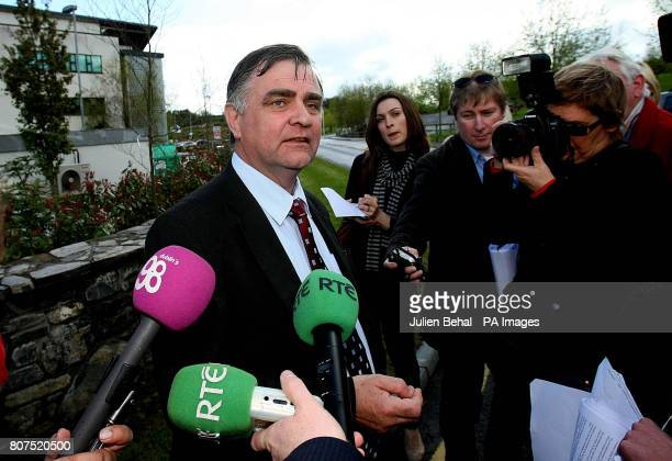 Quinn Insurance worker Patrick O'Brien speaking to the media in Cavan Ireland after administrators announced that around 900 jobs will be lost as...