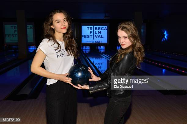 Quinn Shephard and Nadia Alexander attend the SAGindie Party during the 2017 Tribeca Film Festival at Lucky Strike on April 24 2017 in New York City