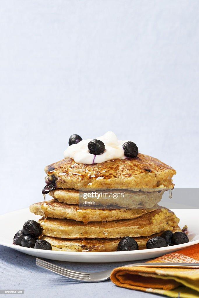 Quinoa Pancakes : Stock Photo