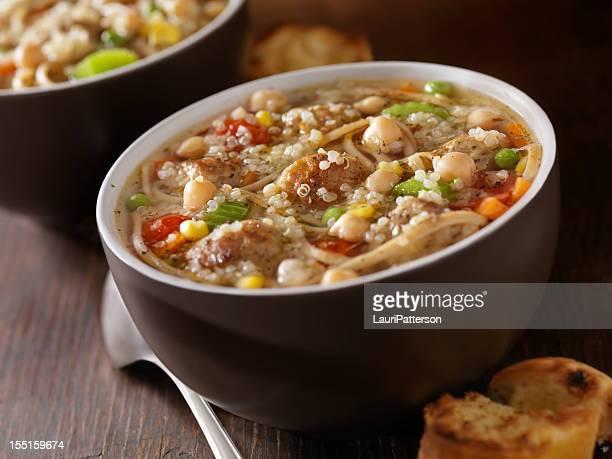 Quinoa Turkey Meatball Soup