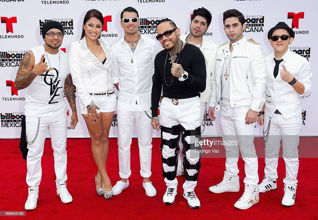 AB Quintanilla III (C) and the Kumbia Kings attend the 2013 Billboard Mexican Music Awards arrivals at Dolby Theatre on October 9, 2013 in Hollywood, California.