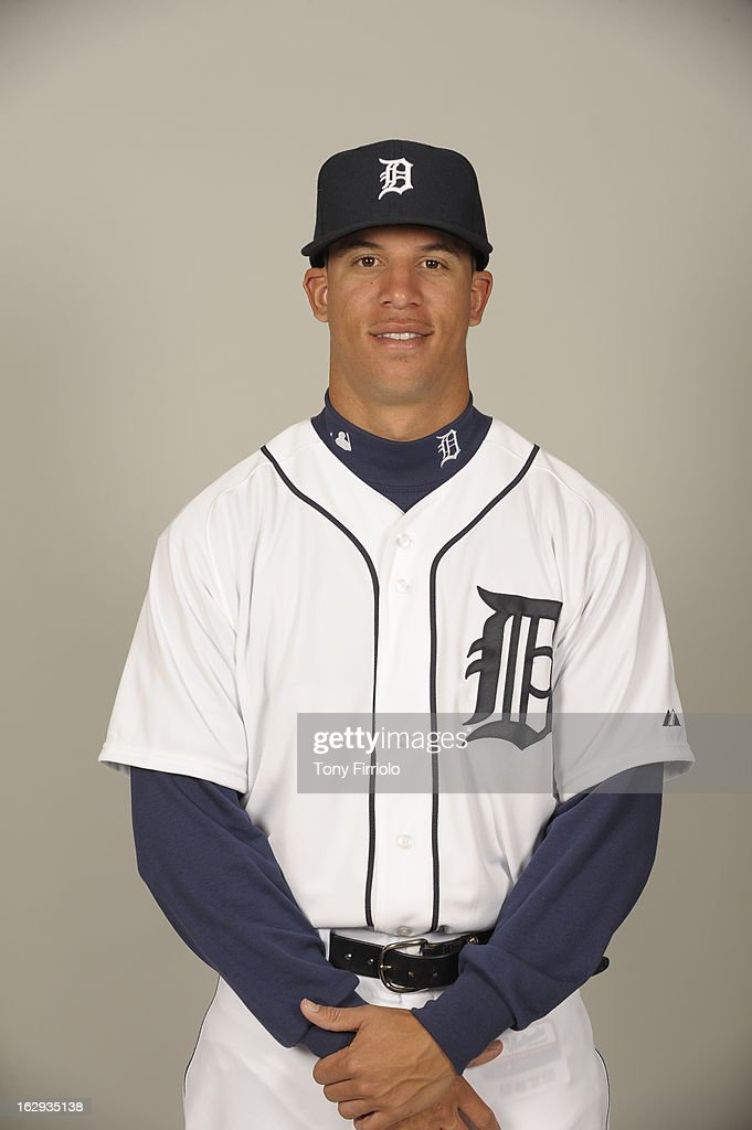 <a gi-track='captionPersonalityLinkClicked' href=/galleries/search?phrase=Quintin+Berry&family=editorial&specificpeople=6772125 ng-click='$event.stopPropagation()'>Quintin Berry</a> #52 of the Detroit Tigers poses during Photo Day on February 19, 2013 at Joker Marchant Stadium in Lakeland, Florida.
