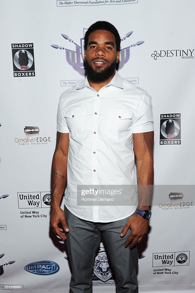 Quintin Demps of The New York Giants attends the Walter Thurmond Foundation for Arts & Education Launch at Shadow Boxers on August 29, 2014 in New York City.