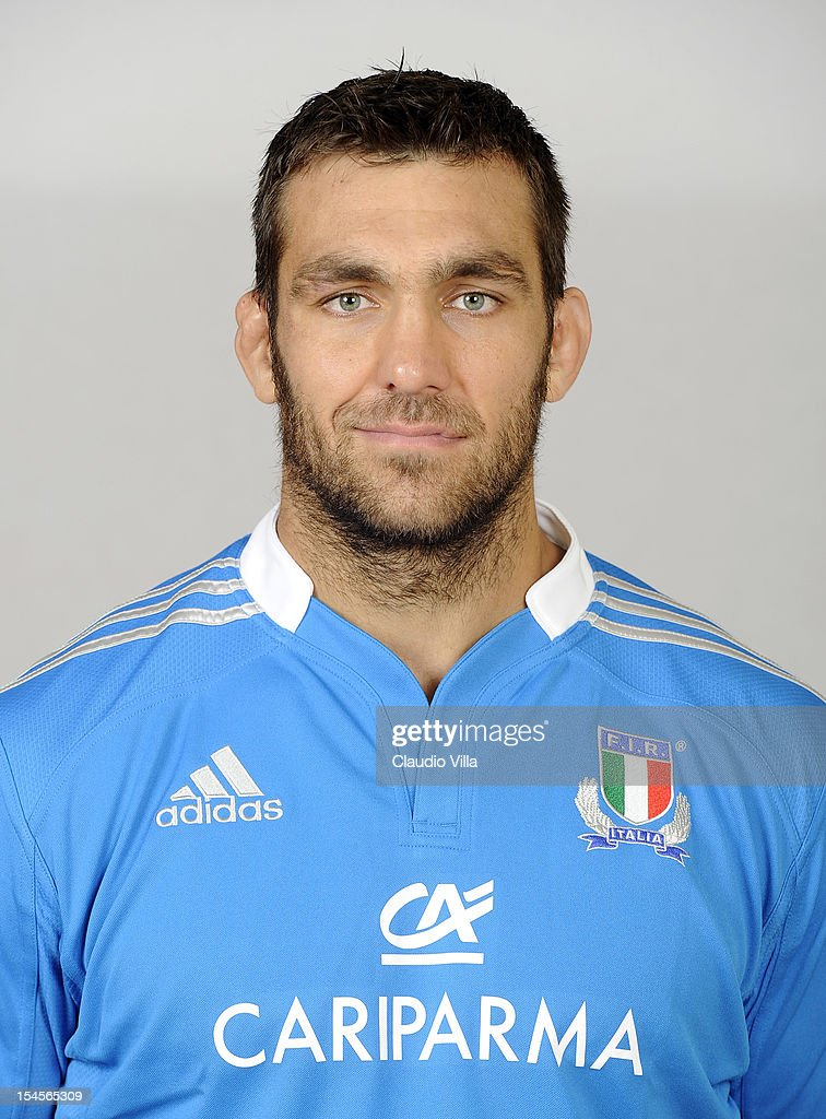 Quintin Geldenhuys poses during a Italy Rugby Union player portrait session on October 22, 2012 in Rome, Italy.