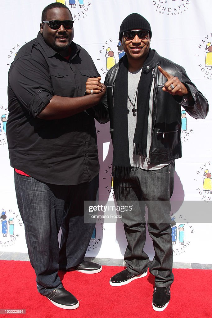 <a gi-track='captionPersonalityLinkClicked' href=/galleries/search?phrase=Quinton+Aaron&family=editorial&specificpeople=6527390 ng-click='$event.stopPropagation()'>Quinton Aaron</a> (L) and <a gi-track='captionPersonalityLinkClicked' href=/galleries/search?phrase=LL+Cool+J&family=editorial&specificpeople=201567 ng-click='$event.stopPropagation()'>LL Cool J</a> attend the 'I Have A Dream' Foundation's 15th annual Los Angeles dreamer brunch held at the Skirball Cultural Center on March 3, 2013 in Los Angeles, California.