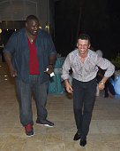 Quinton Aaron and Tony Dovolani attend Celebrity Golf Tournament Afterparty during Sandals Emerald Bay Celebrity Golf Weekend on June 4 2016 in Great...