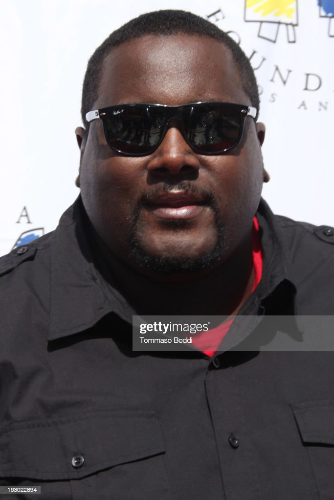 <a gi-track='captionPersonalityLinkClicked' href=/galleries/search?phrase=Quinton+Aaron&family=editorial&specificpeople=6527390 ng-click='$event.stopPropagation()'>Quinton Aaron</a> attends the 'I Have A Dream' Foundation's 15th annual Los Angeles dreamer brunch held at the Skirball Cultural Center on March 3, 2013 in Los Angeles, California.