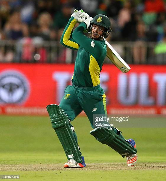 Quinton de Kock during the 3rd Momentum ODI Series match between South Africa and Australia at Sahara Stadium Kingsmead on October 05 2016 in Durban...