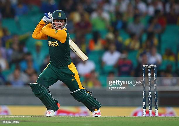 Quinton de Kock of South Africa bats during the 2015 ICC Cricket World Cup Quarter Final match between South Africa and Sri Lanka at Sydney Cricket...