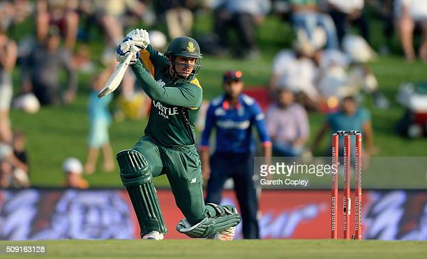 Quinton de Kock of South Africa bats during the 3rd Momentum ODI match between South Africa and England at Supersport Park on February 9 2016 in...