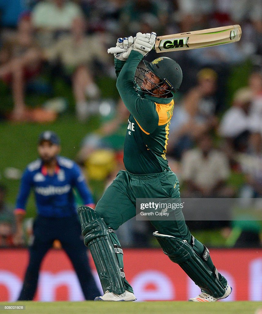 <a gi-track='captionPersonalityLinkClicked' href=/galleries/search?phrase=Quinton+de+Kock&family=editorial&specificpeople=7970706 ng-click='$event.stopPropagation()'>Quinton de Kock</a> of South Africa bats during the 3rd Momentum ODI match between South Africa and England at Supersport Park on February 9, 2016 in Centurion, South Africa.