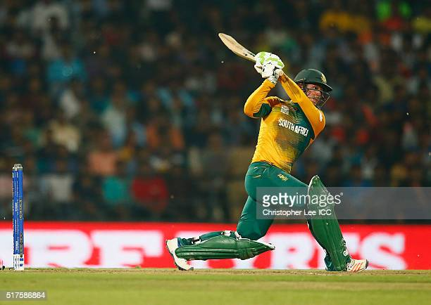 Quinton de Kock of South Africa in action during the ICC World Twenty20 India 2016 Group 1 match between South Africa and West Indies at the Vidarbha...