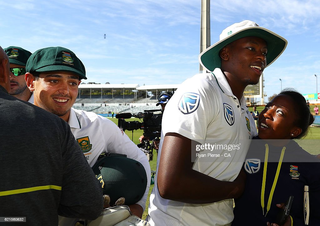 1st Test - Australia v South Africa: Day 5 : News Photo