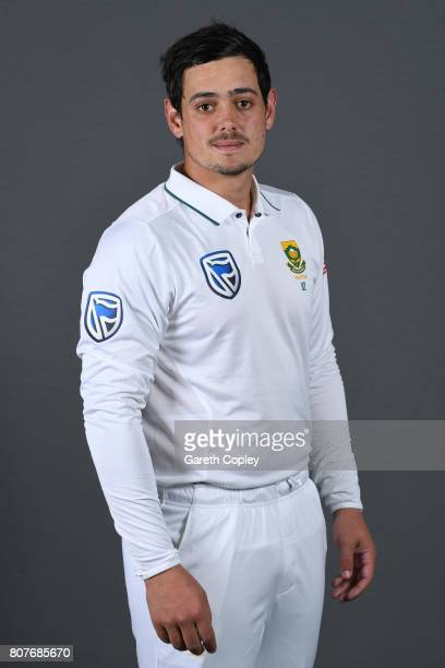 Quinton de Kock of South Africa poses for a portrait at Lord's Cricket Ground on July 4 2017 in London England