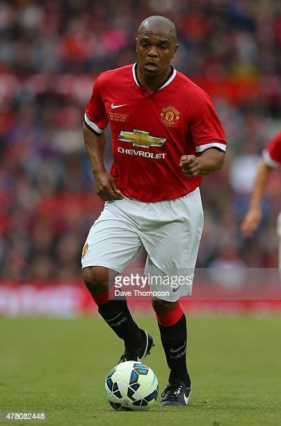Quinton Fortune of Manchester United Legends during the Manchester United Foundation charity match between Manchester United Legends and Bayern...