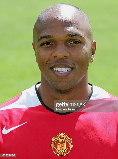 Quinton Fortune of Manchester United poses during the annual club photocall at Carrington Training Ground on 5 August 2005 in Manchester England