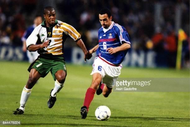 Quinton FORTUNE / Youri DJORKAEFF France / Afrique du Sud Coupe du Monde 1998 Stade Velodrome Marseill Photo Alain Gadoffre / Icon Sport