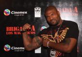 Quinton 'Rampage' Jackson attends the premiere of 'The ATeam' at Cinemex Antara Polanco on May 31 2010 in Mexico City Mexico