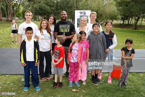 Quinton 'Rampage' Jackson Pia Lamberg and Heather Parisi attend Fit2BKids/Flip2BFit Fitness Day Hosted By UFC's Quinton 'Rampage' Jackson at El Toro...