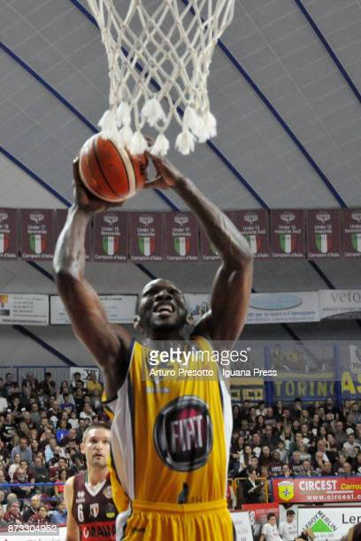 Quinton Stephens of Fiat in action during the LBA LegaBasket of Serie A match between Reyer Umana Venezia and Auxilium Fiat Torino at Palasport...