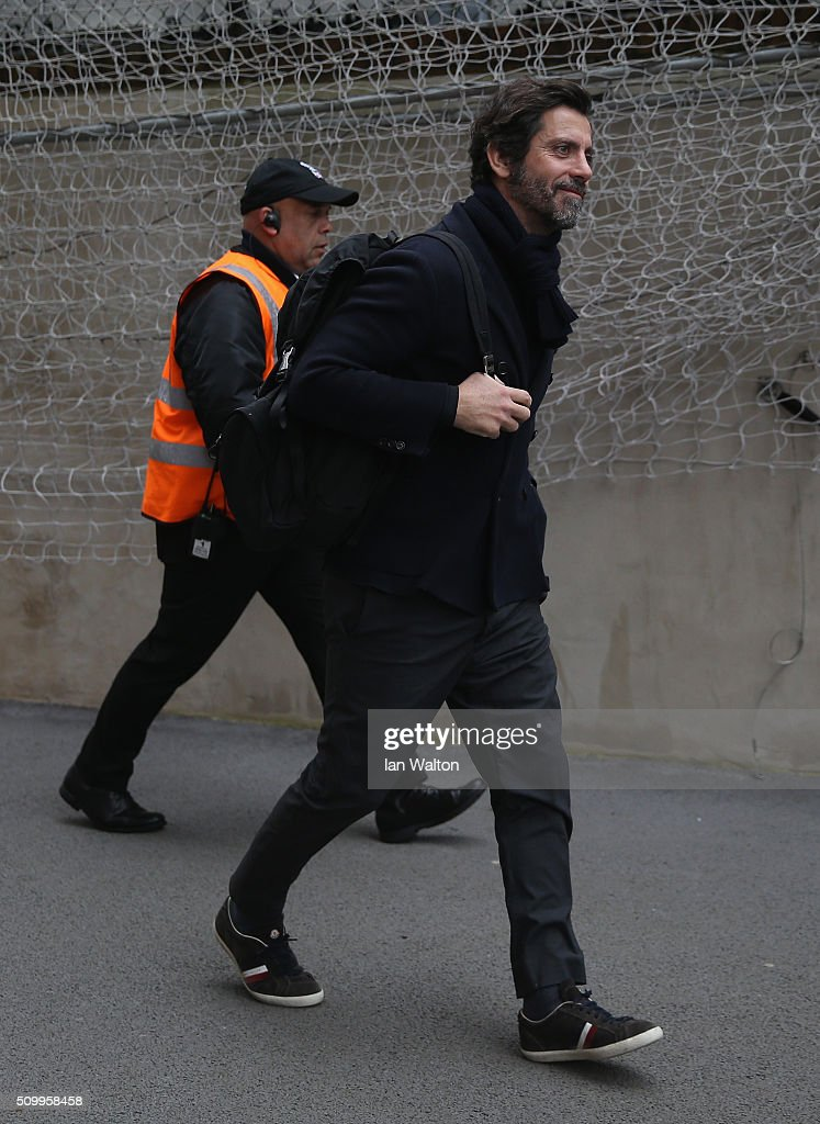 Quique Flores manager of Watford is seen on arrival at the stadium prior to the Barclays Premier League match between Crystal Palace and Watford at Selhurst Park on February 13, 2016 in London, England.