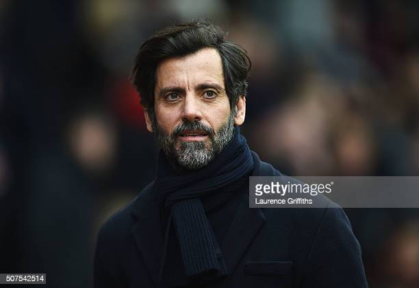 Quique Flores manager of Watford looks on prior to the Emirates FA Cup fourth round between Nottingham Forest and Watford at City Ground on January...