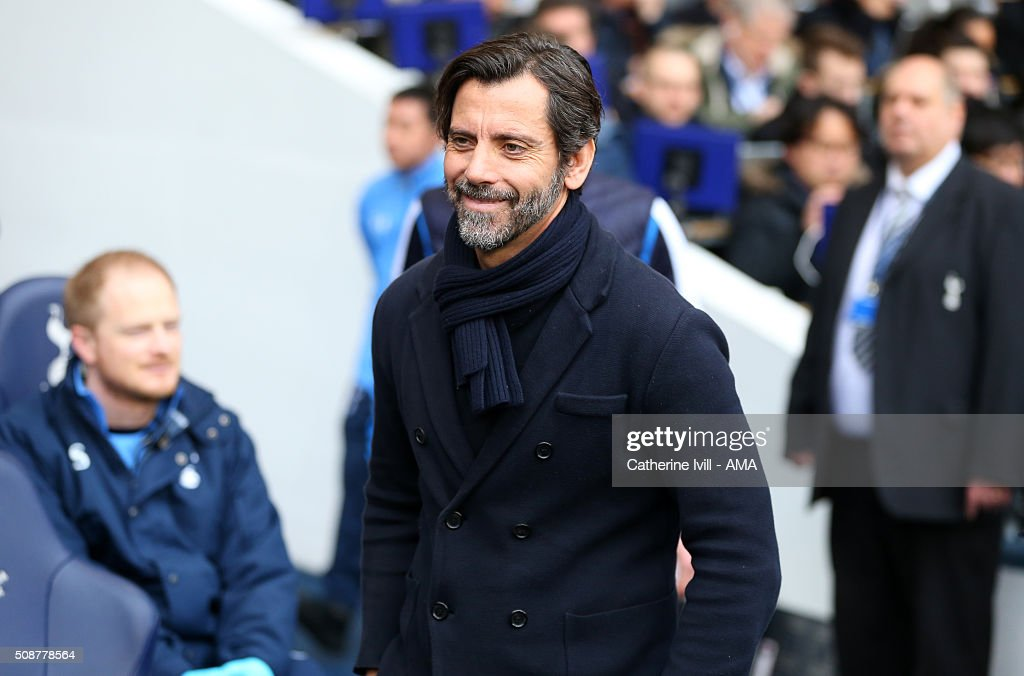 Quique Sanchez Flores manager of Watford during the Barclays Premier League match between Tottenham Hotspur and Watford at White Hart Lane on February 6, 2016 in London, England.
