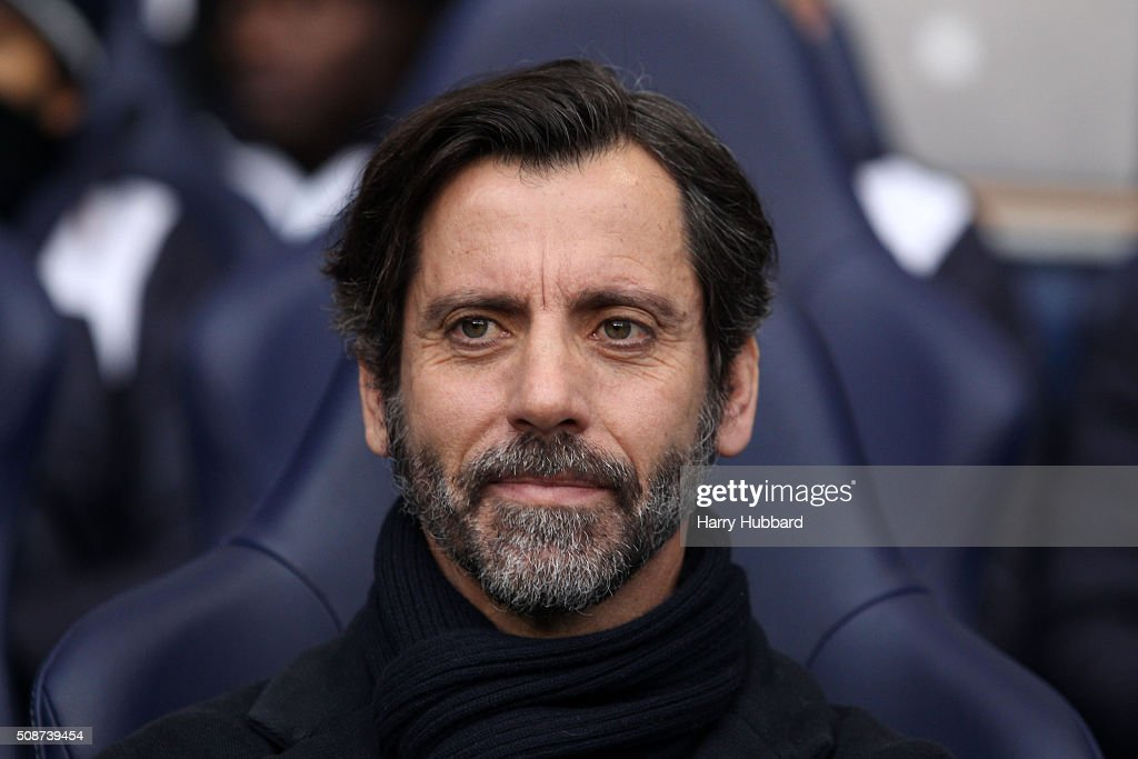 Quique Sanchez Flores, manager of Watford looks on before the Barclays Premier League match between Tottenham Hotspur and Watford at White Hart Lane on February 6, 2016 in London, England.