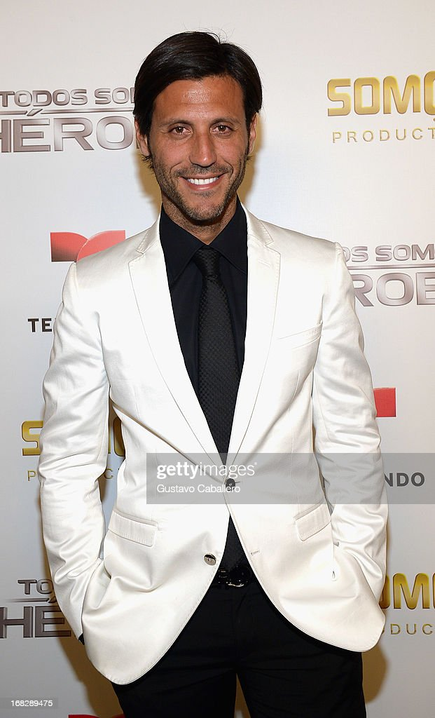 Quique Usales attends the Telemundo's Todos Somos Heroes Gala on May 7, 2013 in Miami, United States.