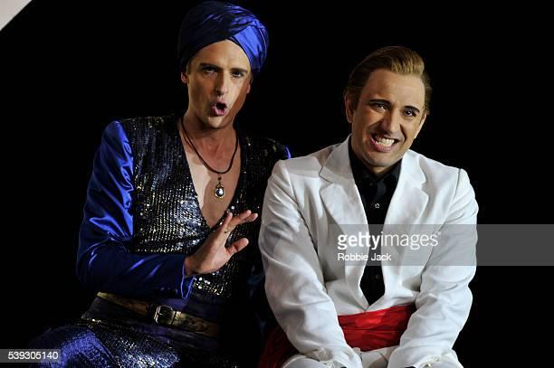 Quirijn de Lang as Mustafa and Luciano Botelho as Liondoro in Garsington Opera's production of Gioachino Rossini's L'Italiana in Algeri directed by...