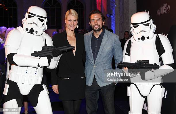 Quirin Berg and Natascha Gruen attend the Generation Sky Event at Reithalle on October 30 2014 in Munich Germany