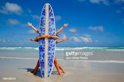 Quirky surf board photo
