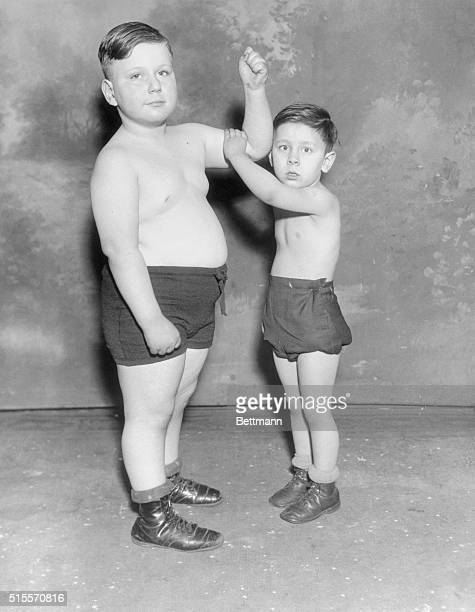 Quite a Large Young Man Chicago Ill Jules Tewlow son of Mr and Mrs Frank Tewlow of Chicago is but five years oldbelieve it or not and he weighs 116...