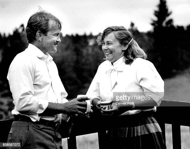 A quite moment with after dinner coffee on the deck of their home Larry and Marianne Niefert Credit The Denver Post