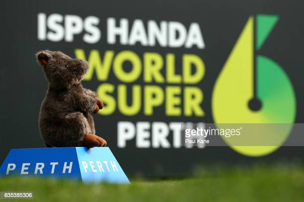 Quokka tee marker is seen on the 9th hole during previews ahead of the ISPS HANDA World Super 6 Perth at Lake Karrinyup Country Club on February 15...
