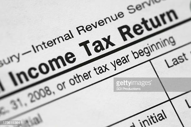 """""""Income Tax Return"""" Closeup"""