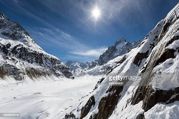 """Mer de glace"" glacier - ""Sea of Ice"", Chamonix, France"