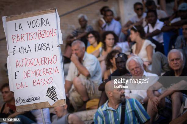 quotNo one is illegalquot demonstration in Campidoglio against mayor of Rome Virginia Raggi policies to say that the problems of Rome are not...