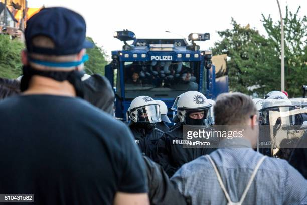 quotWelcome to Hellquot protest against the G20 summit in Hamburg Germany on 6 June 2017 Clashes took place from the start of the demonstration on...