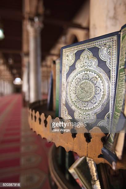 Quran, Qur'an , inside mosque, Cairo, Egypt